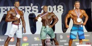 نتائج بطولة مستر اوليمبيا 2018 Mr.Olympia لكمال الاجسام لفئة المان فيزيكMen's Physique